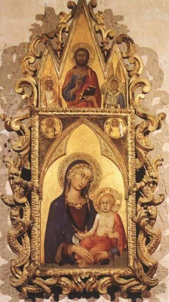 SIMONE MARTINI Madonna And Child With Angels And The Saviour